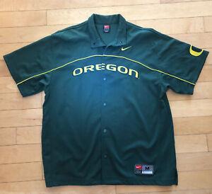 OREGON DUCKS Vtg. 90's Nike Basketball Shooting Warm Up Jersey Shirt Men's Sz. M