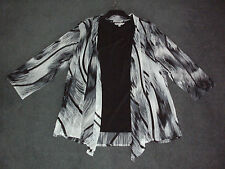NONI.B: 2 Piece Size: S. (10) Stylsh Slim Print Mesh Jacket + Black Tank/Singlet