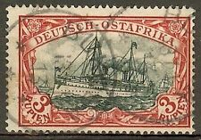 1901 German colonies EAST AFRICA  3 Rupien Yacht used BUKOBA  € 230.00 signed