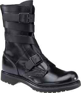 "STYLE 5407 TANKER BOOTS CORCORAN BRAND 10"" BLACK LEATHER"
