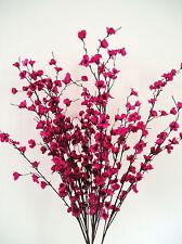 Quality Artificial / Silk Flowers Spring  Blossom Sprays Cerise Bunch of 3 Stems