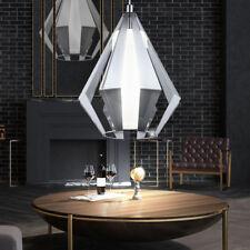 Design Pendel Leuchte chrom Ess Zimmer Beleuchtung Glas Decken Hänge Lampe Küche