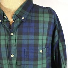 NEW Catalina Tartan Plaid Long Sleeve Shirt Vintage Casual Classic Cotton 3XL