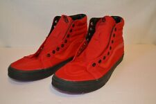 VANS Authentic Black Sole Jester Red High Top Red Bottom Ultracush Size 13 Men
