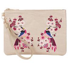 Oasis Kimono Embroidered Clutch Bag Womens Handbag Metallic Xbody Crossbody