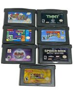 GBA Gameboy Advance Lot 7 Games Mario Donkey Kong Yugioh Spiderman Tetris Auth!!