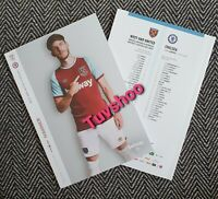 West Ham United v Chelsea LIMITED Programme 1/7/20! COMPLETE SOLD OUT! LAST FEW!