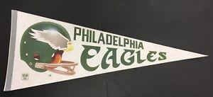 "1970 Philadelphia Eagles NFL Football Pennant Full Size 29"" Vintage Helmet Logo"