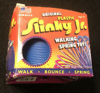 Original Plastic Slinky Jr. 2008 Toy by Poof Slinky Inc. Blue Made USA New