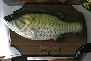VINTAGE BIG MOUTH BILLY BASS GEMMY SINGING FISH TAKE ME TO THE RIVER BE HAPPY