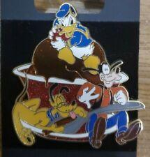 Disney Festival of Dreams Easel Pin Set Goofy Donald Pluto Ice Cream Sundae Rare