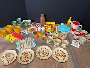 Vtg Play Food And Dishes Lot - Gowi, Cabbage Patch Kids, Fisher Price, Chilton