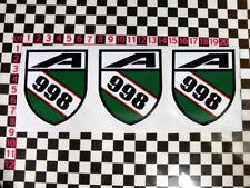 3 x BL BMC 998 Engine Stickers - Mini Cooper MK2 Elf Hornet Metro MK3 Clubman