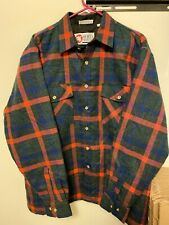 Insulated Black Red Blue Plaid Lined Flannel Work Shirt - Large Mens Quilted Vtg