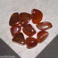 ROSE QUARTZ ORANGE AURA tumbled 1/4 lb bulk stones soft luster 8-12 pk