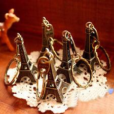 Paris Retro Mini Eiffel Tower Model Cute Keychain Keyring Keyfob Gift Key Set
