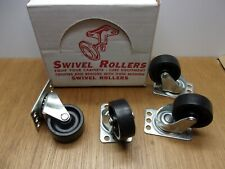 Whiteside 72 Creeper Caster 2 Swivel Polyurethane Wheels Use With 4wm24 Usa