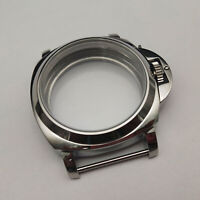 44mm Stainless Steel Watch Case for ETA 6497 6498 Seagull ST36 Series Movement