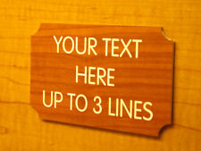 Custom Engraved 3x5 Cherry Wood-Grain Sign | Personalized Home Office Plaque
