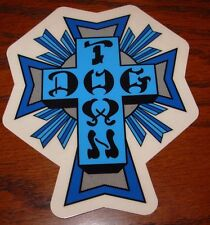 "DOGTOWN dog town Skate Sticker Blue Cross 4.25 X 3.5"" skateboards helmets decal"