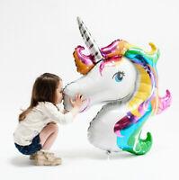 Big Unicorn Rainbow Foil Helium Balloon Pump Inflator Birthday Party Decorations