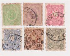 (GE-5) 1880 Germany 6set 3pf to 50pf (PFENNIG) (E)