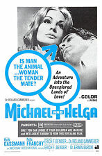 THE EROTIC WORLD OF SEX - WITH HELGA! original 1968 movie poster + FREE SHIPPING