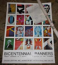 Bicentennial Banners Vintage Original Cuck Levitan Gallery Art Exhibition Poster
