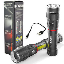 Nebo Slyde King 6434 Rechargeable LED Flashlight Work Light Adjustable Zoom