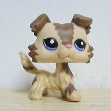Hasbro Littlest Pet Shop LPS Figure Loose Toys #2210 Brown Collie Dog Puggy Rare
