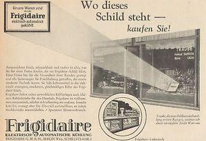 Y4430 Frigorigeri Frigidaire - Advertising D'Epoca - 1929 Old Advertising