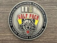 Challenge Coin US Army Echo Company FSC WOLFPACK TF Long Knife OEF 4 BCT