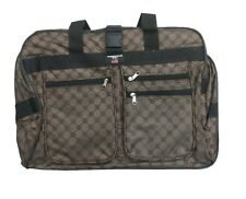 """30"""" rolling wheeled duffel bag expandable spinner suitcase long strap ( brown )"""