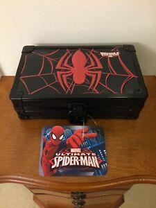 Spiderman Locking Supply Box With Key - New! - Free Shipping!