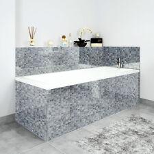 Bath Panels Printed on Acrylic - Grey Mosaic