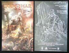 SDCC 2009 EXCL God Of War signed WILDSTORM Comic promo poster by Marv Wolfman