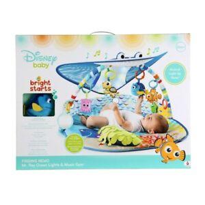 NEW Sensory Play Mat Activity Gym Disney Baby Finding Nemo Mr Ray Ocean Lights