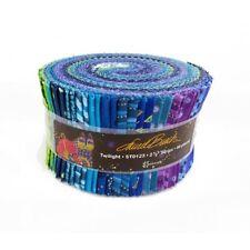 "Laurel Burch TWILIGHT Precut 2.5"" Strips (40 Pieces) Jelly Roll Quilt Fabric"