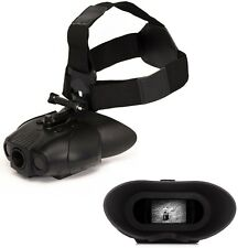 Nightfox 119V Head Mounted Night Vision Goggles - 1x Magnification - Infrared IR