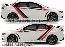 Mitsubishi Side Racing Stripes 026 Autocollants Decals Graphics Vinyl Evo Evolution