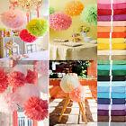 "100pcs Tissue Paper Pom Poms Flower Ball Wedding Party Birthday Decor 6""/8""/10"""