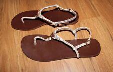 BCBG BCBGMaxAzria Women's Faux Snakeskin Leather Flats Sandals Size 8.5