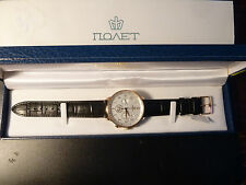 NEW RARE! POLJOT 75 Anniversary Watch Russia 3133 Chronograph Mechanical Ltd Ed