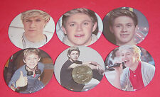 """One Direction Niall Horan NEW Set Of  6 LARGE 2 1/4"""" Buttons Pins Party Favors"""
