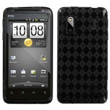 HTC EVO DESIGN 4G TPU CANDY SKIN GEL COVER CASE PHONE ACCESSORY SMOKE ARGYLE