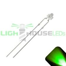 10 x LED 1.8mm / 2mm Pure Green Ultra Super Bright LEDs Light Clear Train Model