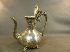 Ancienne belle theière en métal argenté finement décorée vintage début 20ème