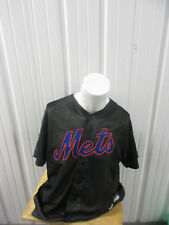 VINTAGE MLB MAJESTIC NEW YORK METS LARGE SEWN BLACK JERSEY PRE-OWNED