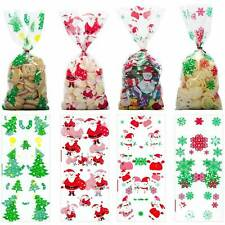 50 pcs Christmas Cellophane Party Bags Treat Candy Biscuits Bag Party Gift Hot z