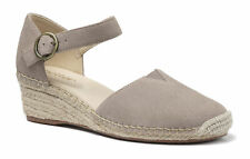 Hotter Women's Pacific Wedge Sandal Suede Buckle Fastening Adult Sandals Formal